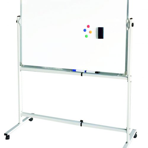 91120 Mobile whiteboard with wheels for classroom and school 4 whiteboard with wheels