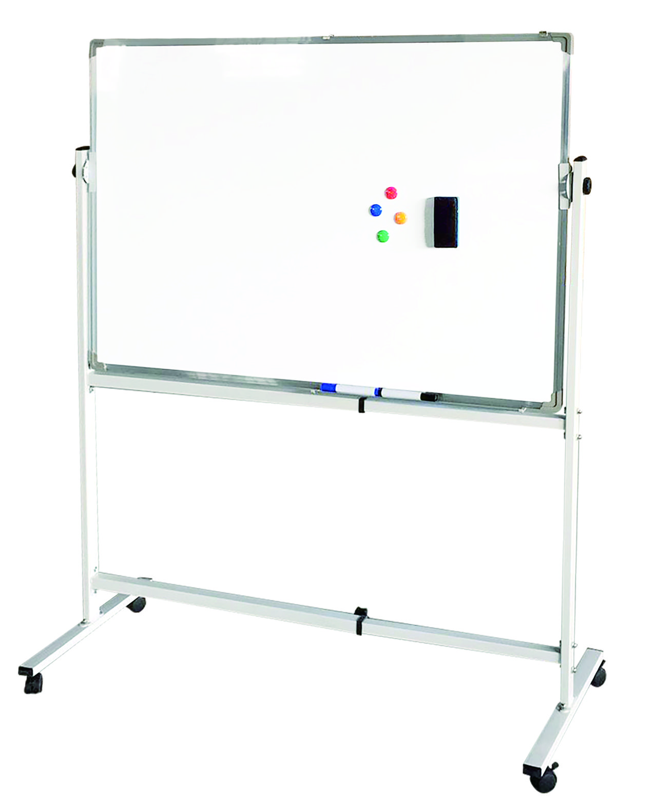 91120 Mobile whiteboard with wheels for classroom and school 1 whiteboard with wheels