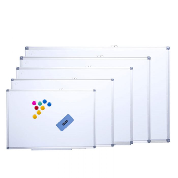 91046-01 Aluminum whiteboard with Invisible Assembly 1 magnetic whiteboard aluminum frame